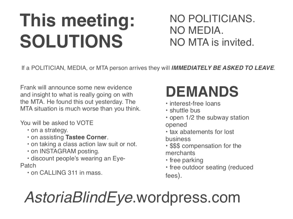 Astoria Blind Eye (agenda)